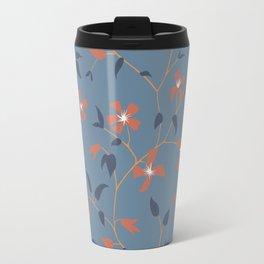 Floral Clematis Vine - Indigo Sunset Travel Mug