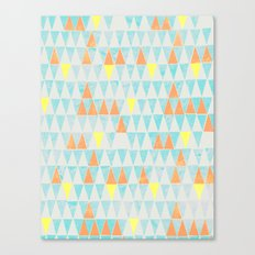 Triangle Patterns Canvas Print