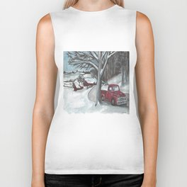 Winter-time Truck Biker Tank