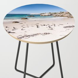 Penguins on Boulders Beach in Cape Town, South Africa Side Table