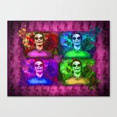 Michael Fassbender...Joker style! Canvas Print