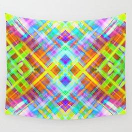 Colorful digital art splashing G71 Wall Tapestry