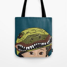 The Dino Helmet Tote Bag