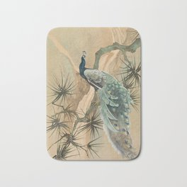 Peacock In The Pines Bath Mat
