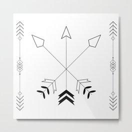 Tribal Basics Metal Print