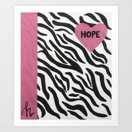 Zebra Hope Art Print