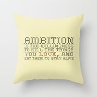 30 rock Throw Pillows featuring Ambition — Jack Donaghy, 30 Rock by feishien