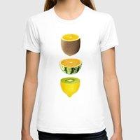 fruits T-shirts featuring Mixed Fruits by victor calahan