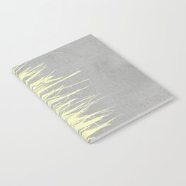 Concrete Fringe Yellow Notebook