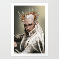 thranduil Art Prints featuring Thranduil by GeminiBrain