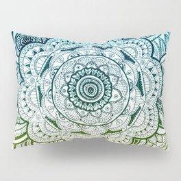Mandala Blue Yellow Pillow Sham