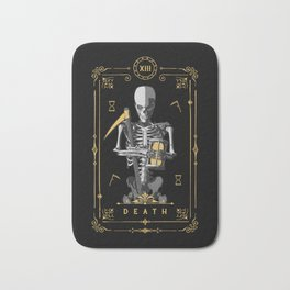 Death XIII Tarot Card Bath Mat