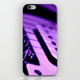 Guitar in Purple fine art photography iPhone Skin