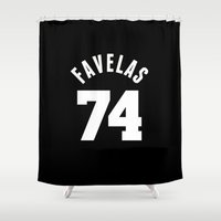 givenchy Shower Curtains featuring FAVELAS 74 GIVENCHY by V.F.Store