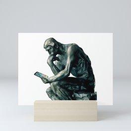 THINKING Mini Art Print