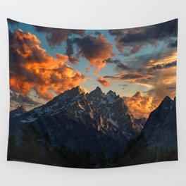Teton Sunset Wall Tapestry