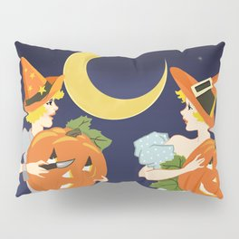 Vintage Halloween Costume Party Pumpkin Carving Pillow Sham