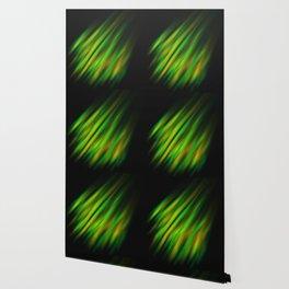 Colorful neon green brush strokes on dark gray Wallpaper