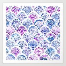OCEAN PROTECTRESS Lavender Mermaid Scales Art Print