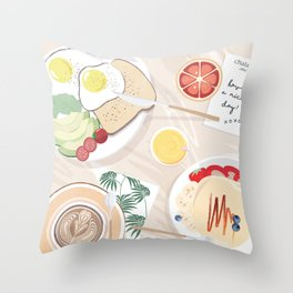 Breakfast in Bed (Los Angeles) Throw Pillow