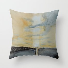 Last light on the bay Throw Pillow