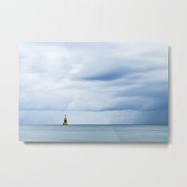 Sea, Lighthouse & Stormy clouds Metal Print