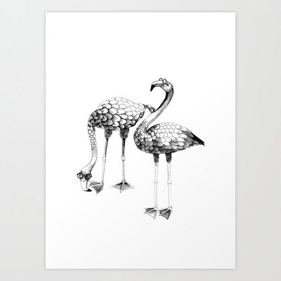 Flamingo Spectacles Art Print