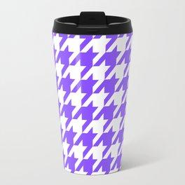 Periwinkle Houndstooth Travel Mug