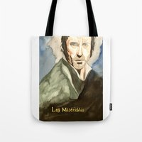 les mis Tote Bags featuring Les Mis by Paxelart
