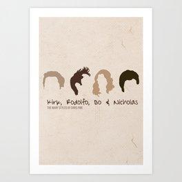 The many styles of Chris Pine. Art Print