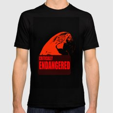 Critically Endangered Blue-throated Macaw Black MEDIUM Mens Fitted Tee