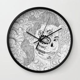 Sugar Skull Ink  Wall Clock