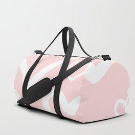 Millennial Pink Pastel Hearts Duffle Bag