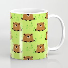 Adorable Groundhog Pattern Coffee Mug