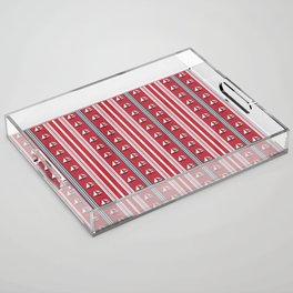 Striped Ahoy Red Acrylic Tray