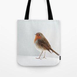 Robin into the Snow Tote Bag