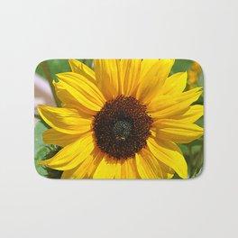 Sunflower nature photo Bath Mat