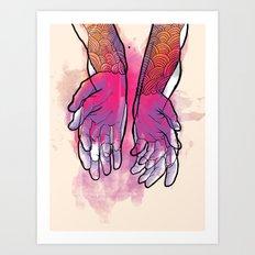 Dirty hands Art Print