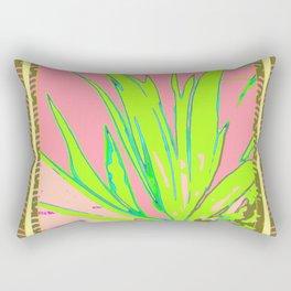 Chartreuse Plant Foliage Pink-Grey Patterns Rectangular Pillow