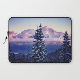 Glorious Beginning sunrise on Mount Shasta Laptop Sleeve