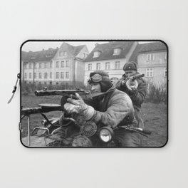 WWII Soviet Soldiers PPsh machineguns motorcycle original Laptop Sleeve
