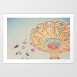 carnival swing II ... Art Print