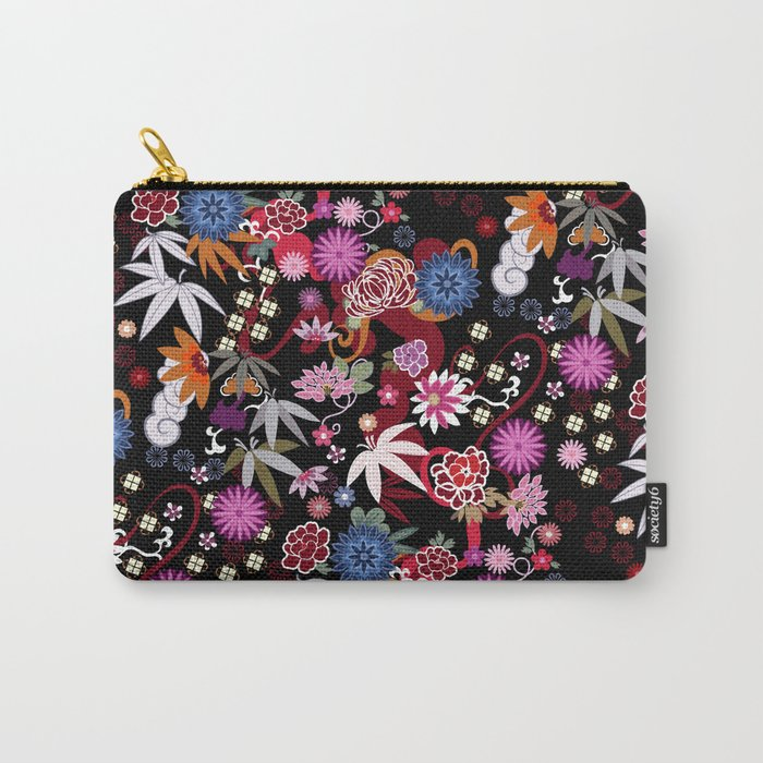 Kimono Black Carry-All Pouch