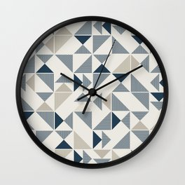 Abstract Geometric Triangle Pattern Wall Clock