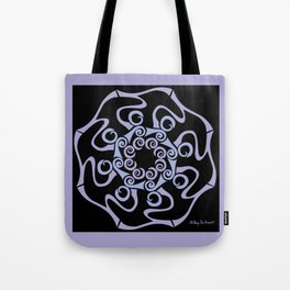 Hope Flower Mandala - Lavender Black Framed Tote Bag