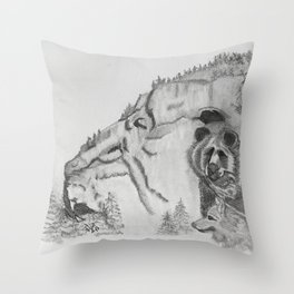 The Fairytale about the Wolf, Bear, and the Lion Throw Pillow
