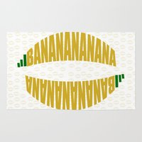 banana Area & Throw Rugs featuring Banana by VirgoSpice