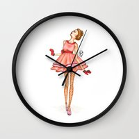 death cab for cutie Wall Clocks featuring Cutie by WandererAtHeart