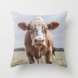 Animal Photography   Cow Portrait Photography   Farm animals Throw Pillow
