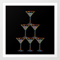 champagne Art Prints featuring Champagne by Rceeh
